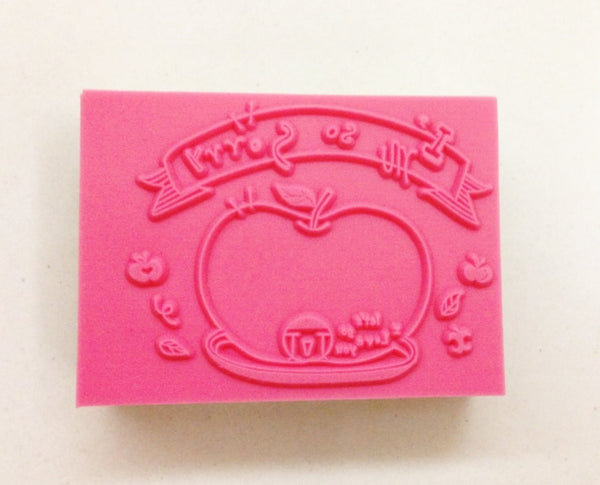 Wooden Rubber Stamp - I am so sorry - CharmTape - 2