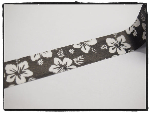 Hibiscus Flower Washi Tape 15mm WT448 - CharmTape - 2