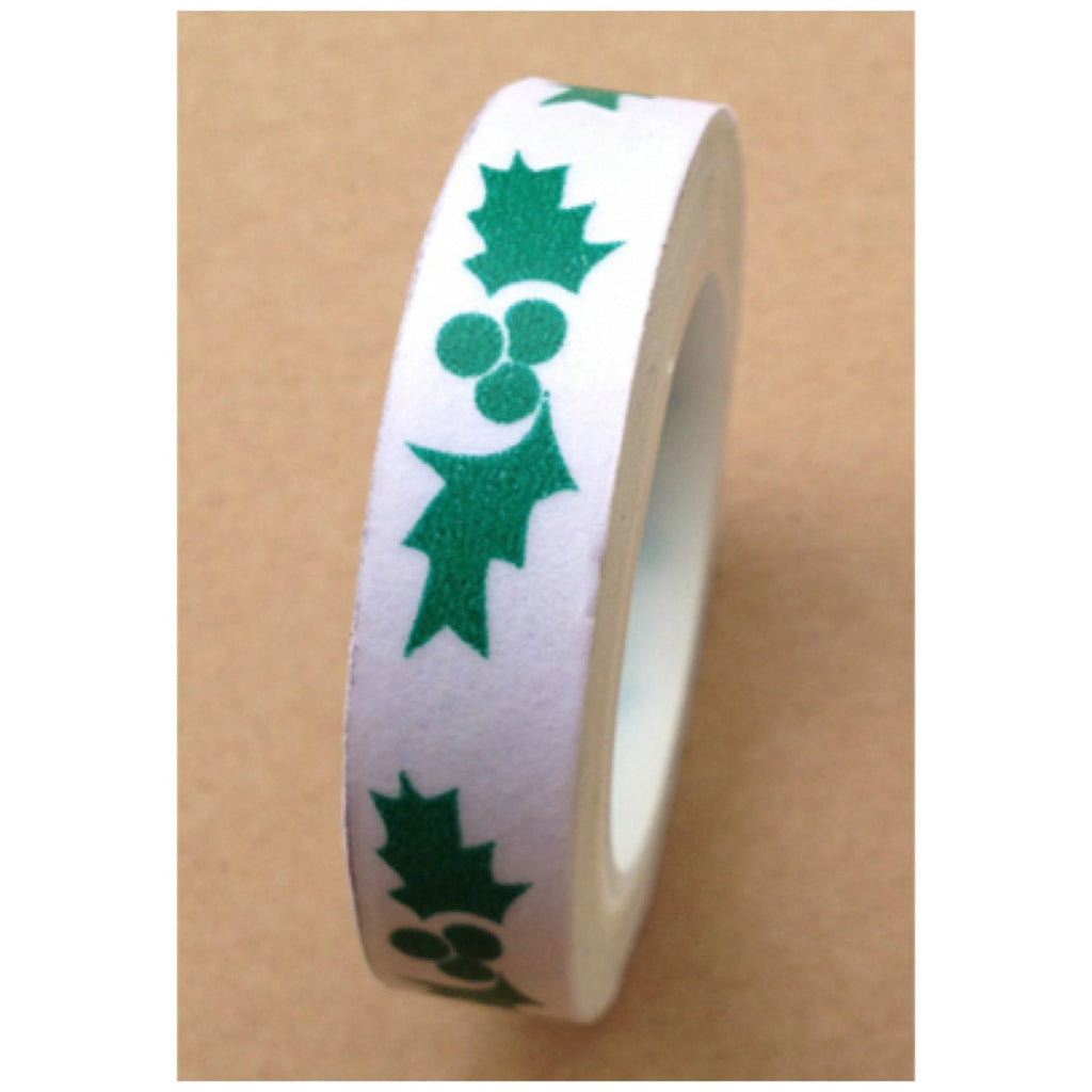 Festive berry leaf Washi tape (10mm x 10m) WT457 - CharmTape