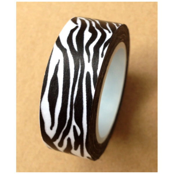Zebra animal Print on Washi tape (15mm x 10m) WT475 - CharmTape - 2