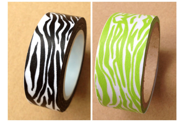 Zebra animal Print on Washi tape (15mm x 10m) WT475 - CharmTape - 1