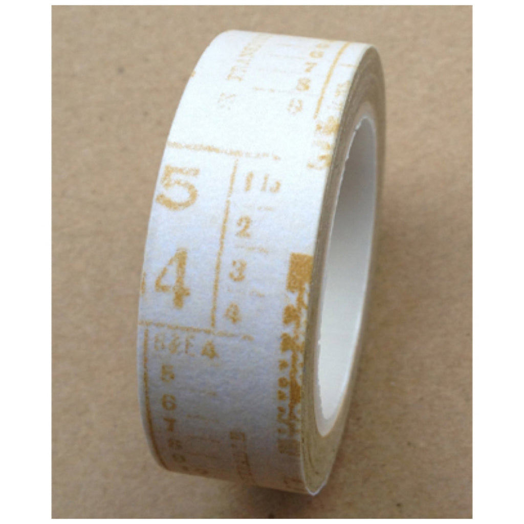 Golden newspaper print Washi tape 15mm x 10m WT485 - CharmTape