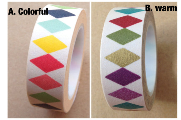 Diamonds Washi tape 15mm x 10m WT476 - CharmTape - 1