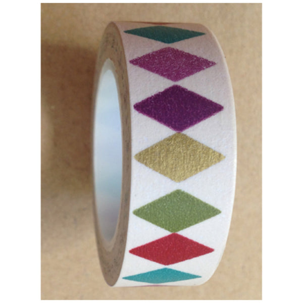Diamonds Washi tape 15mm x 10m WT476 - CharmTape - 2
