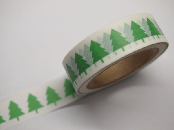 Washi tape - Green & Red Tree WT515 - CharmTape - 4