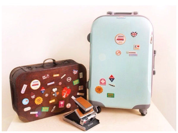 Vintage Style World Travel Leather Suitcase Sticker Set 6 sheets - CharmTape - 3