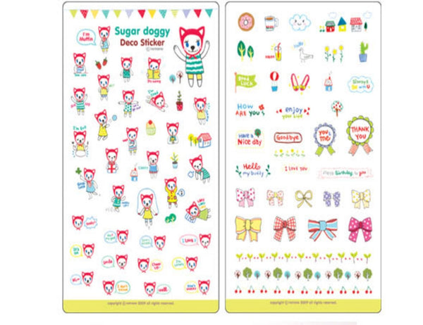 Transparent adhesive Stickers - 6 sheets set - Choo Choo Dogs ss108 - CharmTape - 3