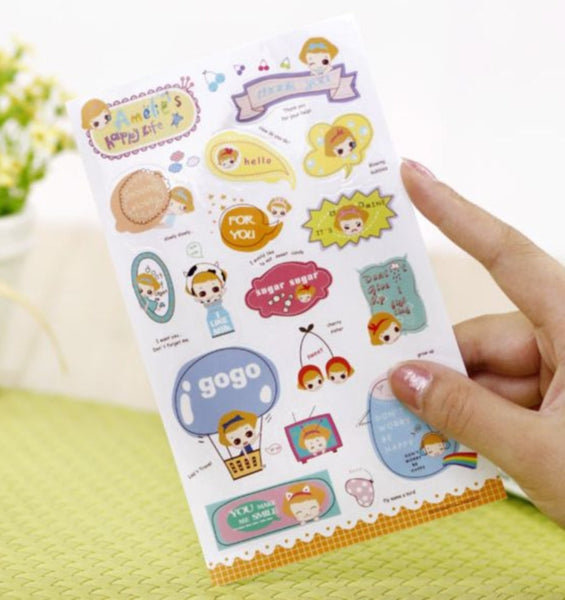 Transparent Stickers - 6 sheets set - Amelia ss108 - CharmTape - 2
