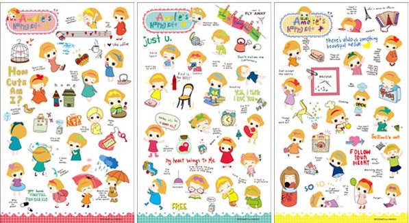Transparent Stickers - 6 sheets set - Amelia ss108 - CharmTape - 5