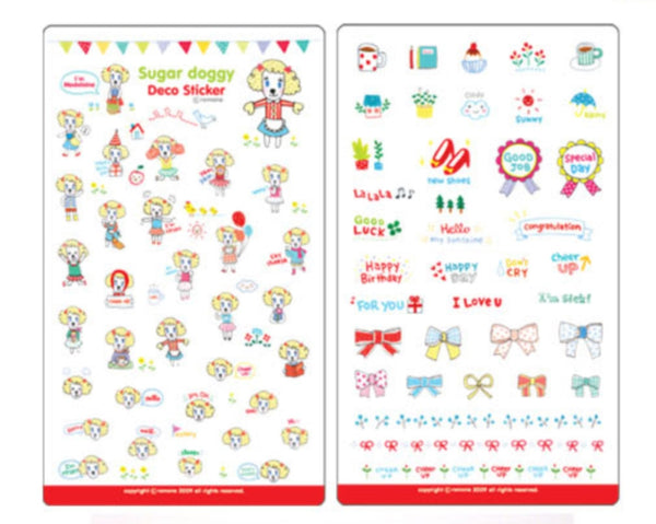 Transparent adhesive Stickers - 6 sheets set - Choo Choo Dogs ss108 - CharmTape - 5