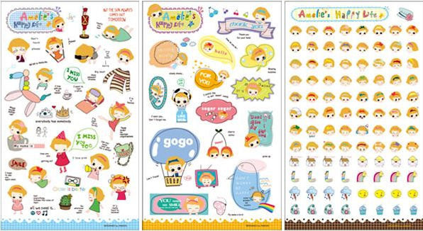 Transparent Stickers - 6 sheets set - Amelia ss108 - CharmTape - 4