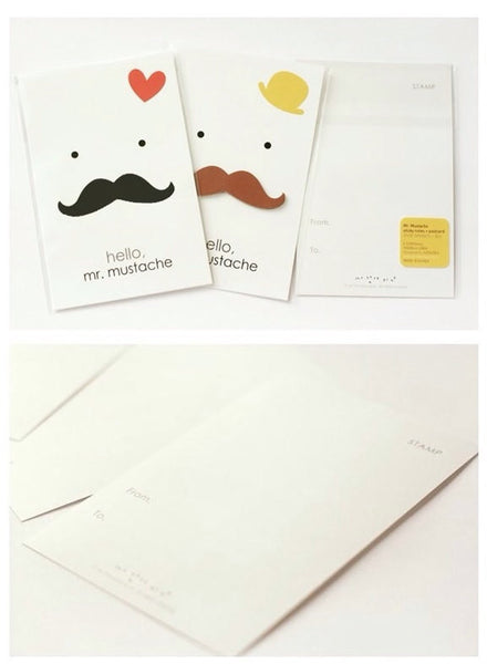 Moustache Post it Memo - Black & Brown Beard PN5 - CharmTape - 4