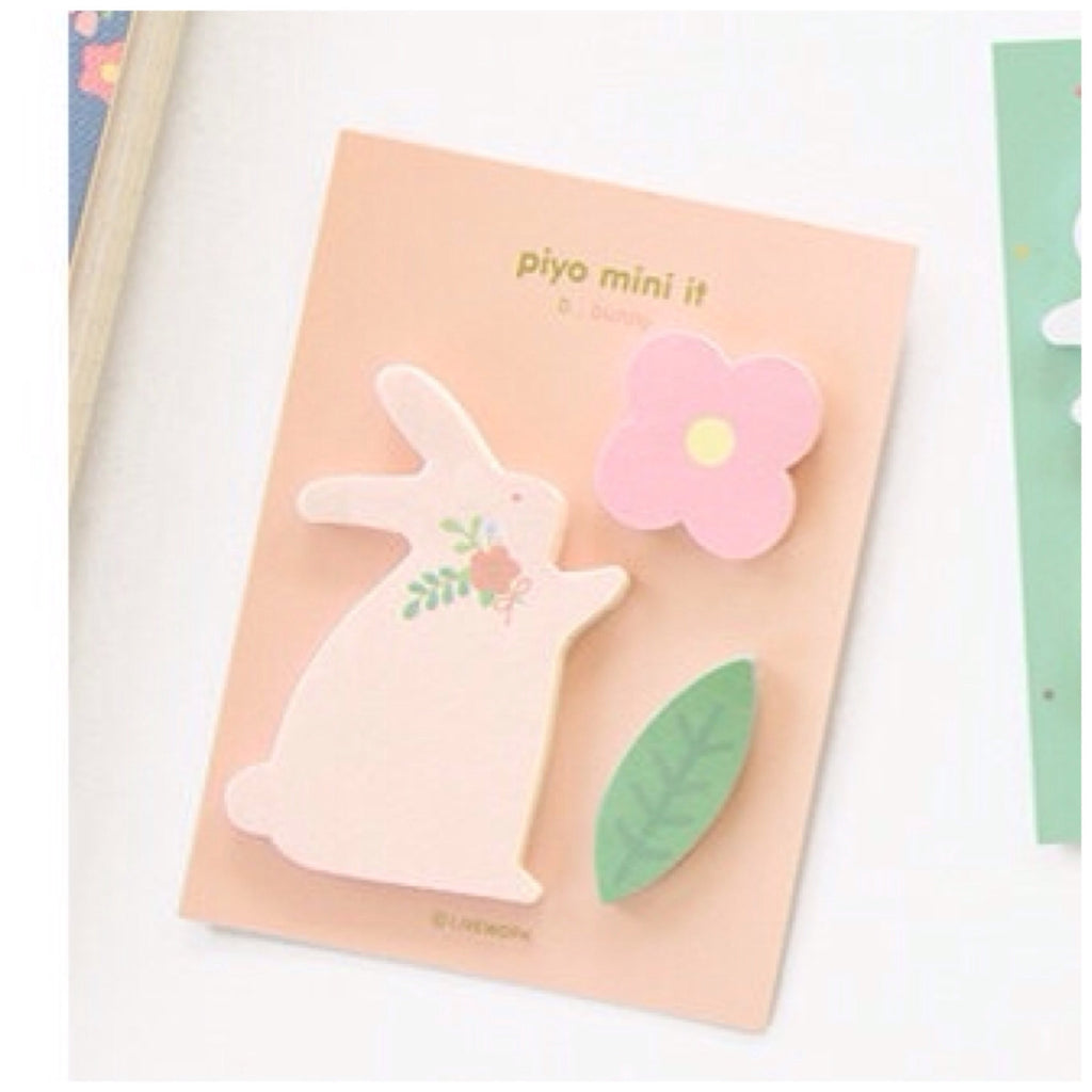 Sticky Memo Note Pad - pink Bunny PN2 - CharmTape - 1