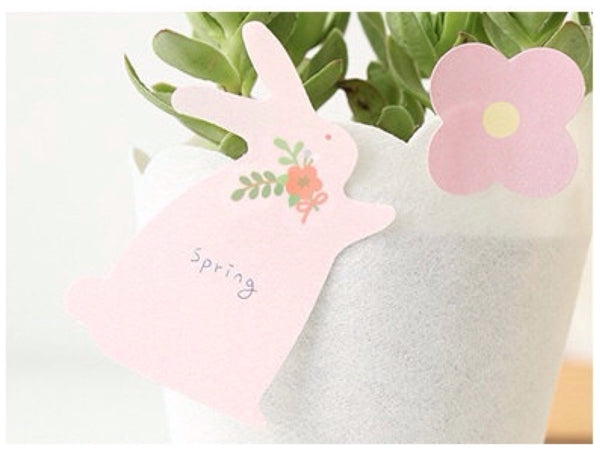 Sticky Memo Note Pad - pink Bunny PN2 - CharmTape - 2