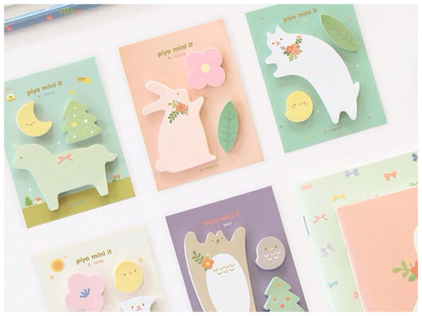 Sticky Memo Note Pad - pink Bunny PN2 - CharmTape - 4