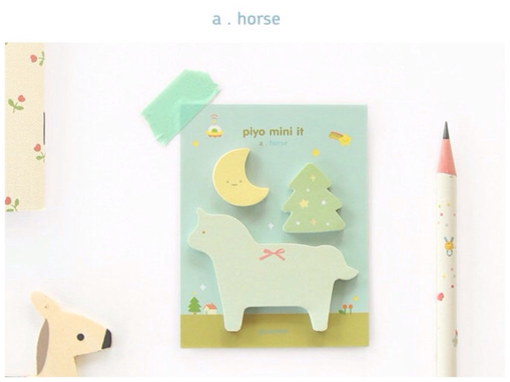Sticky Memo Note Pad - Horse 1 set PN3 - CharmTape - 1