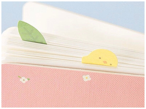 Sticky Memo Note Pad - White cat PN1 - CharmTape - 3