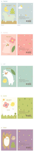 Sticky Memo Note Pad - White cat PN1 - CharmTape - 4