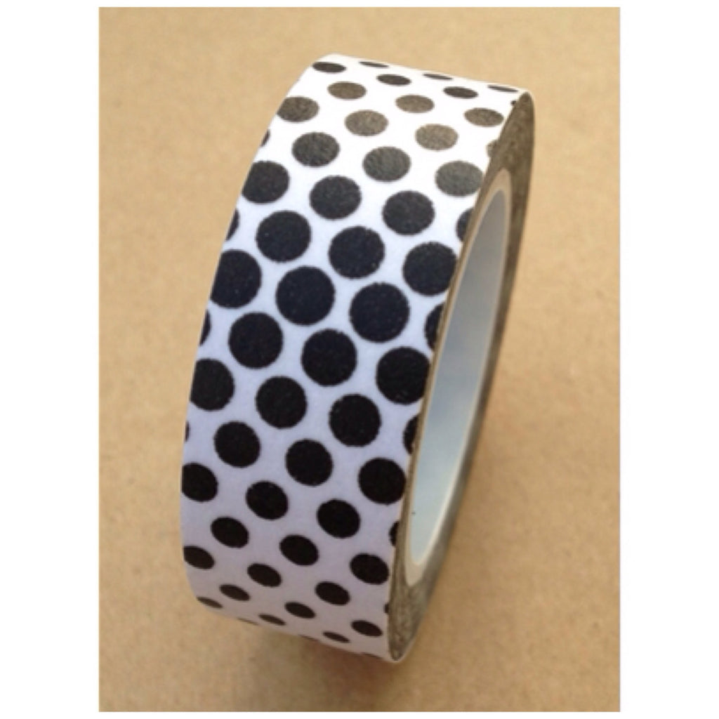 Black & white dots illusion Washi Tape 15mm x 11yards WT526 - CharmTape