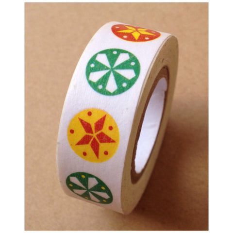 Colorful festive circle Washi Tape 15mm 11yards WT529 - CharmTape
