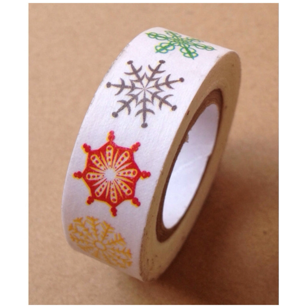 Colorful Festive snow flake Washi Tape 15mm WT530 - CharmTape