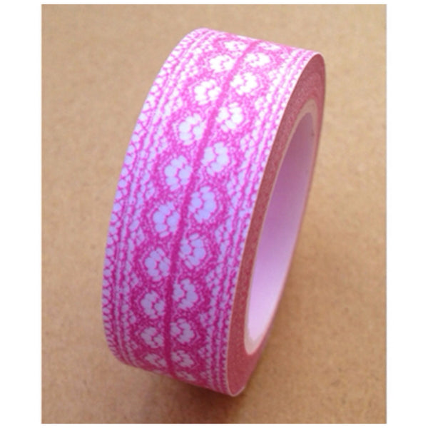 Washi Tape - delicate lace pattern 15mm WT1011 - CharmTape - 11