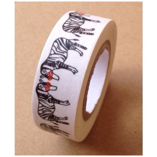 Cool Zebra with glasses Washi Tape 15mm WT538 - CharmTape - 2