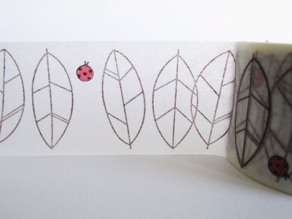 Washi Masking Tape - Leaves - Shinzi Katoh - 30mm Wide - 11 Yards WT548 - CharmTape - 2