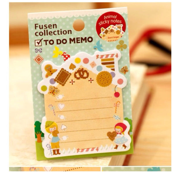 Hansel and Gretel Sticky Post It Memo Note Pad s313 - CharmTape - 1