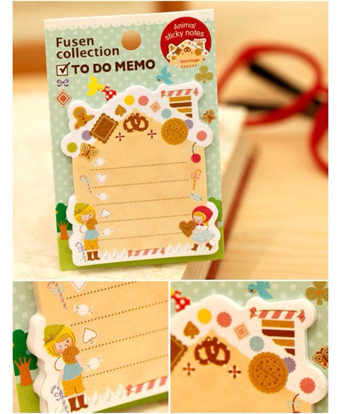 Hansel and Gretel Sticky Post It Memo Note Pad s313 - CharmTape - 2