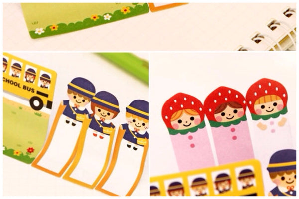 Sticky Post It Memo Note Pad - Strawberry Girl SS716 - CharmTape - 3