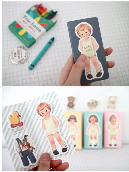 Sticky Memo Note Pad - Vintage Paperdoll Doll - CharmTape - 5