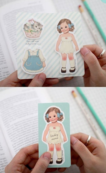 Sticky Memo Note Pad - Vintage Paperdoll Doll - CharmTape - 4