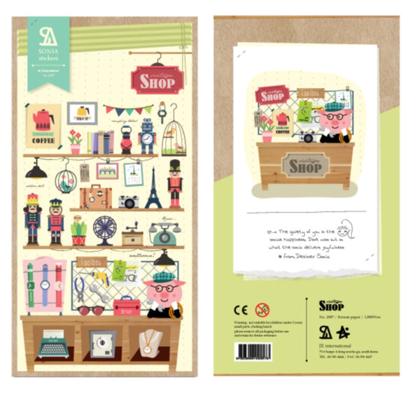 Stickers Shop Keeper paper Sticker Set 1 Sheets SS531 - CharmTape - 2