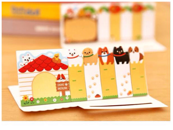 Sticky Post It Memo Note Pad - corgi dog SS715 - CharmTape - 1