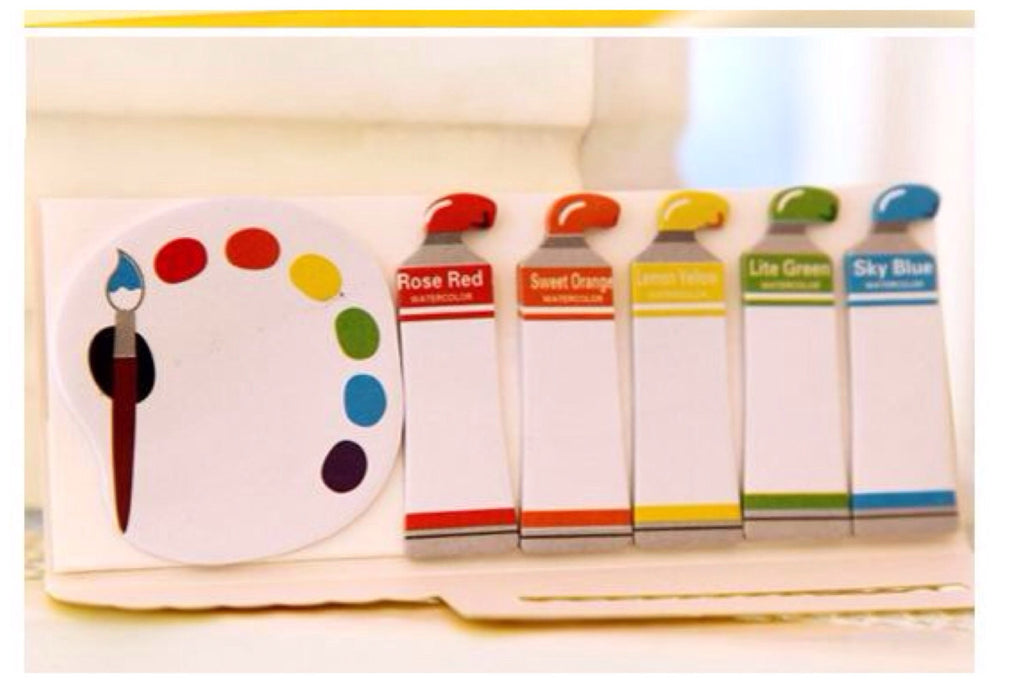 Sticky Post It Memo Note Pad - Colorful paint SS714 - CharmTape - 1