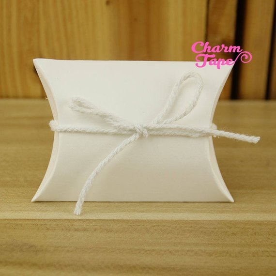 5/25/100 pcs Brown Kraft Paper Pillow Gift Box, Boxes For Candy - Party Favors PB008 9x6.5x2.5cm