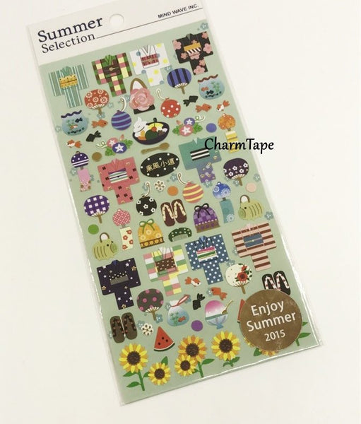 Kimono stickers chiyogami paper stickers geisha accessories / purse / fans / tabi socks by Mindwave 1 Sheets ss1027