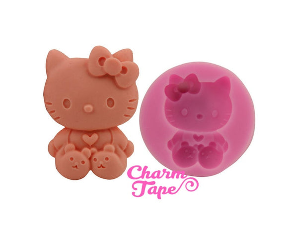 Kitty Cat Food Graded Silicone Mold for Cake, Fondant, Cake Decorating Supplies H2844