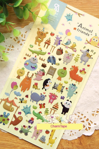 Animal Friends Gel Deco sticker by Sonia 1 Sheets SS249