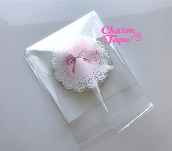 20/50/100 bags Ribbon Lace Cello Bags // Poly Bags // Self Sealing bags // Wedding Favor Bags // Party Bags CB77
