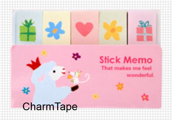 Little Lamb Sticky Post It Memo Note Pad 210 sheets SS267 - CharmTape - 1