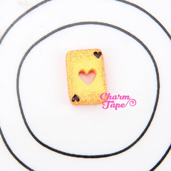 Toast Slice Playing cards cabochon cab Flat Back 15mmX20mm M044