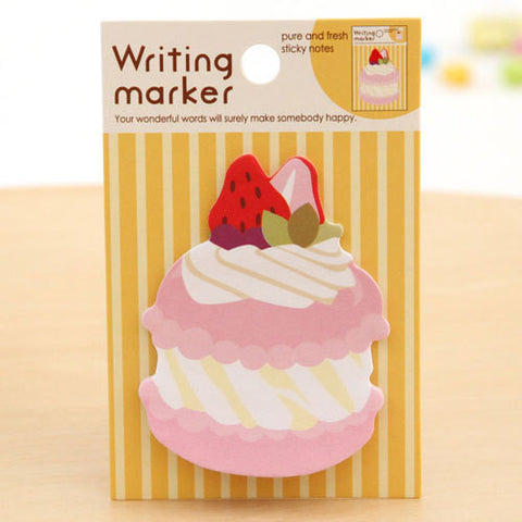 Strawberry Macaroon Sticky Post It Memo Note Pad 20 sheets SS379 - CharmTape - 1