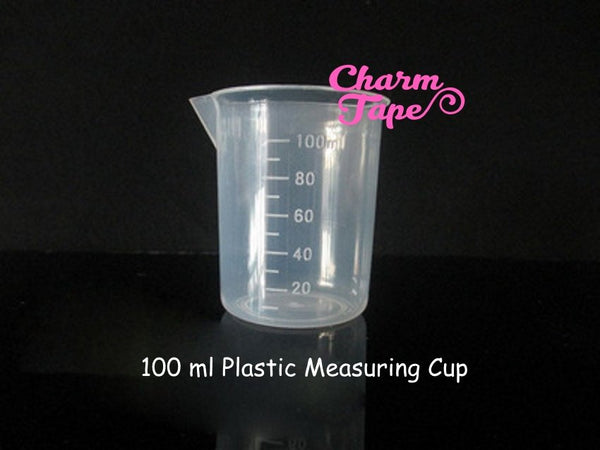 100ml Plastic Measuring Cup Multiple Times Use For Resin Cast. Semi clear Crafting Tool