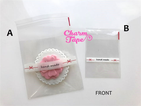20/50/100  bags Handmade Cello Bags // Poly Bags // Self Sealing bags // Wedding Favor Bags // Party Bags Set 7x7cm or 10x10 CB12