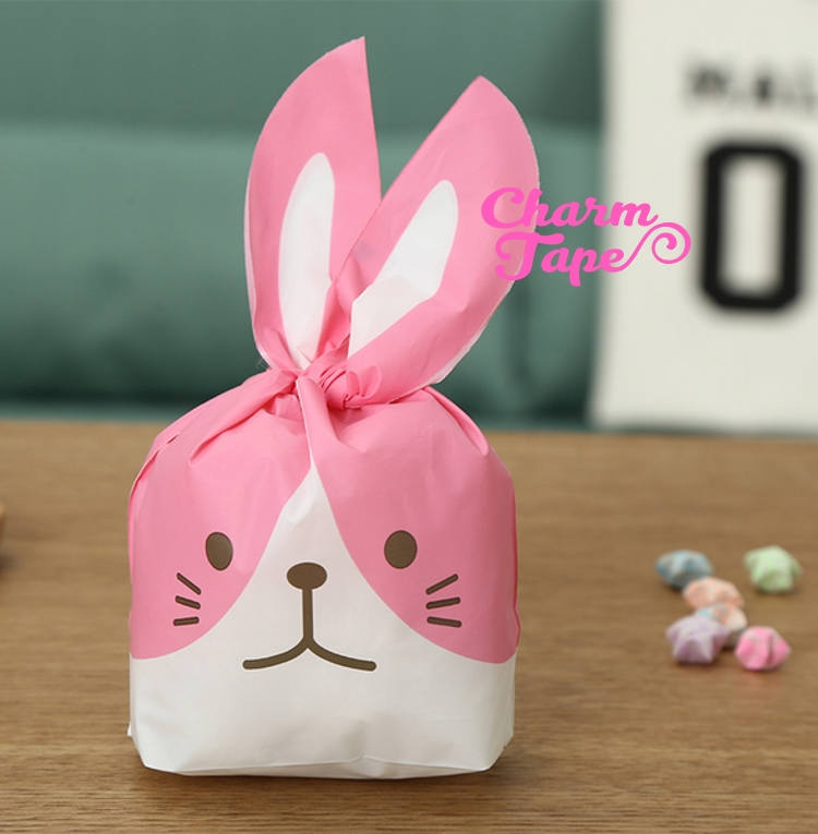 Nah face Rabbit Bunny Bags // Cello Bags // Party Bags Set of 25 bags CB22 9.8x16x5.5 cm