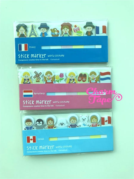 Nationality Post-It Memo World Costume 120 sheets SS745