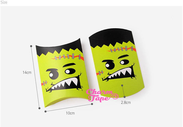 Halloween Gift Box, Pillow Boxes For Candy, Treat - Favors Bags Set of 4 PB001 14x10cm