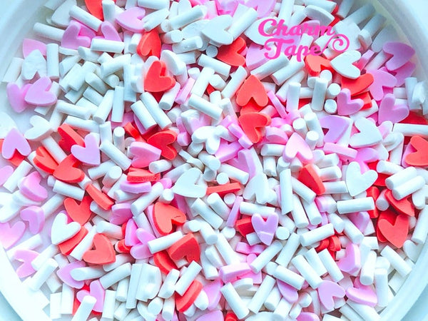 3g/15g/50g Oh Love! Mix sprinkle Confetti polymer clay Holiday Topping Tiny Decoden Faux Miniature Fake Food 5mm SP517